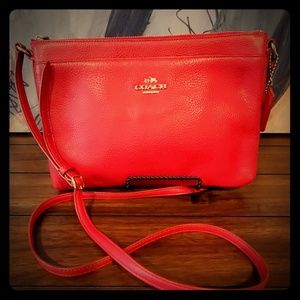 Red Coach Crossbody Purse